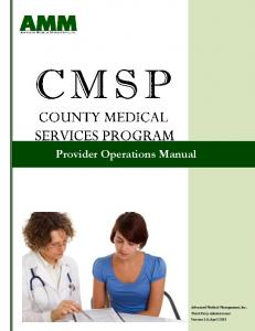 Provider Operations Manual