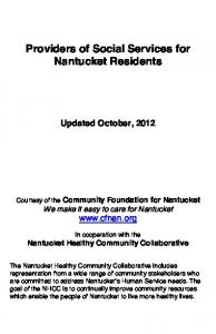 Providers of Social Services for Nantucket Residents