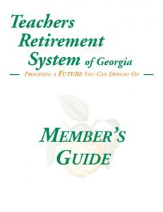 PROVIDING A FUTURE YOU CAN DEPEND ON MEMBER S GUIDE