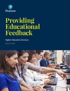 Providing Educational Feedback Higher Education Services
