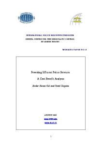 Providing Efficient Police Services: