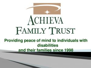 Providing peace of mind to individuals with disabilities and their families since 1998