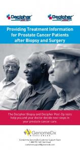 Providing Treatment Information for Prostate Cancer Patients after Biopsy and Surgery