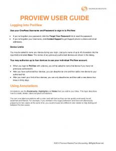 PROVIEW USER GUIDE. Logging into ProView. Using Annotations. Use your OnePass Username and Password to sign in to ProView