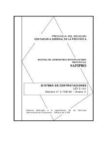 PROVINCIA DEL NEUQUEN CONTADURIA GENERAL DE LA PROVINCIA