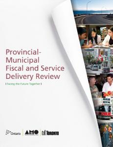 PROVINCIAL- MUNICIPAL FISCAL AND SERVICE DELIVERY REVIEW