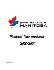 Provincial Team Handbook