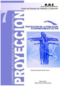 PROYECCION DE LA POBLACION ECONOMICAMENTE ACTIVA