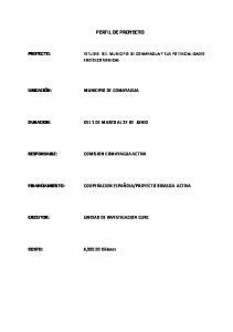 PROYECTO BIDASOA ACTIVA UNIDAD DE INVESTIGACION CURC. 6,000