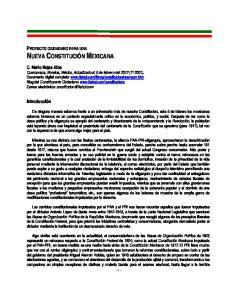 PROYECTO CIUDADANO PARA UNA NUEVA CONSTITUCIÓN MEXICANA