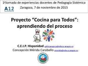 Proyecto Cocina para Todos : aprendiendo del proceso