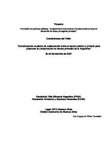Proyecto. Conclusiones del Taller
