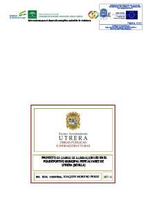 PROYECTO DE CAMBIO DE ILUMINACION LED EN EL POLIDEPORTIVO MUNICIPAL PEPE ALVAREZ DE UTRERA (SEVILLA)