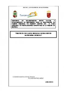 PROYECTO DE CAMPO REGIONAL DE HOCKEY EN SANTOMERA (MURCIA)