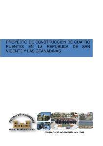 PROYECTO DE CONSTRUCCION DE CUATRO PUENTES EN LA REPUBLICA DE SAN VICENTE Y LAS GRANADINAS