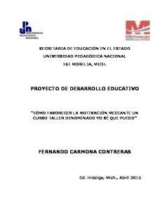 PROYECTO DE DESARROLLO EDUCATIVO