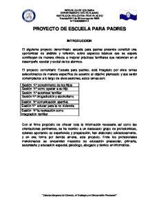 PROYECTO DE ESCUELA PARA PADRES