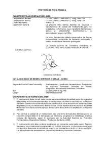 PROYECTO DE FICHA TECNICA