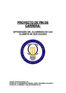 PROYECTO DE FIN DE CARRERA: