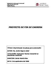 PROYECTO DE FIN DE CARRERA