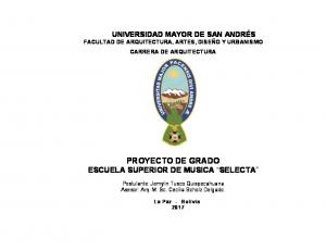 PROYECTO DE GRADO ESCUELA SUPERIOR DE MUSICA SELECTA