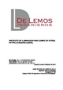 PROYECTO DE ILUMINACION PARA CAMPO DE FUTBOL EN TRILLO (GUADALAJARA)