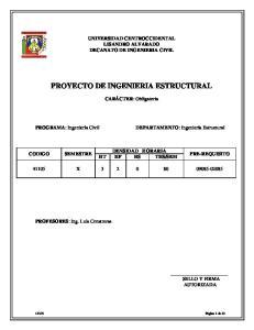 PROYECTO DE INGENIERIA ESTRUCTURAL