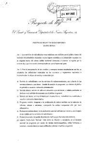 PROYECTO DE LEY DE RADIODIFUSION DEFINICIONES