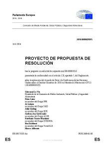 PROYECTO DE PROPUESTA DE RESOLUCIÓN