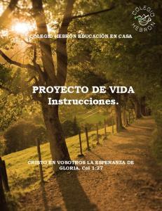 PROYECTO DE VIDA Instrucciones