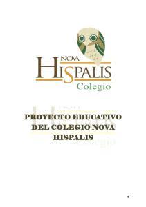 PROYECTO EDUCATIVO DE CENTRO PROYECTO EDUCATIVO DEL COLEGIO NOVA HISPALIS