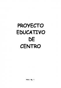 PROYECTO EDUCATIVO DE CENTRO