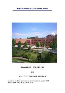 PROYECTO EDUCATIVO DEL C.E.I.P. CARDENAL MENDOZA