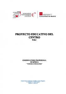 PROYECTO EDUCATIVO DEL CENTRO P.E.C
