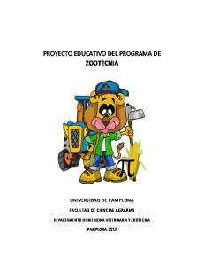 PROYECTO EDUCATIVO DEL PROGRAMA DE ZOOTECNIA