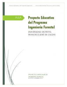Proyecto Educativo del Programa Ingeniería Forestal