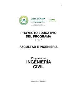 PROYECTO EDUCATIVO DEL PROGRAMA PEP FACULTAD E INGENIERÍA