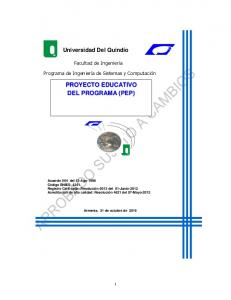 PROYECTO EDUCATIVO DEL PROGRAMA (PEP)