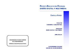 PROYECTO EDUCATIVO DEL PROGRAMA