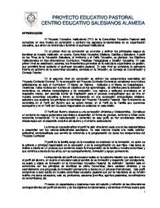 PROYECTO EDUCATIVO PASTORAL CENTRO EDUCATIVO SALESIANOS ALAMEDA