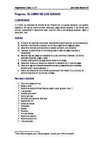 Proyecto: EL LIBRO DE LOS JUEGOS