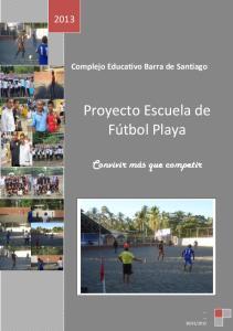 Proyecto Escuela de Fútbol Playa