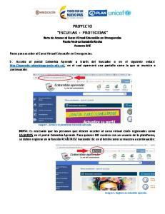 PROYECTO ESCUELAS + PROTEGIDAS