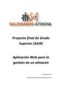 Proyecto final de Grado Superior (ASIR)