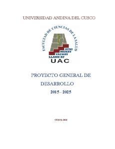 PROYECTO GENERAL DE DESARROLLO