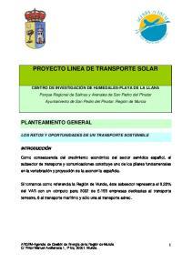 PROYECTO LINEA DE TRANSPORTE SOLAR