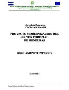 PROYECTO MODERNIZACION DEL SECTOR FORESTAL DE HONDURAS