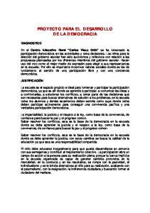PROYECTO PARA EL DESARROLLO DE LA DEMOCRACIA
