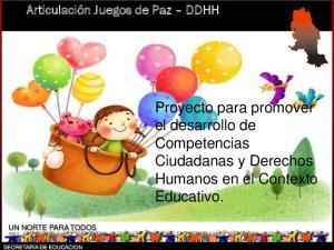 Proyecto para promover el desarrollo de Competencias Ciudadanas y Derechos Humanos en el Contexto Educativo