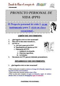 PROYECTO PERSONAL DE VIDA (PPV)